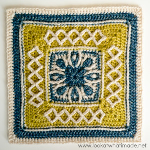 Esme's Winter Cottage {12″ Crochet Square}