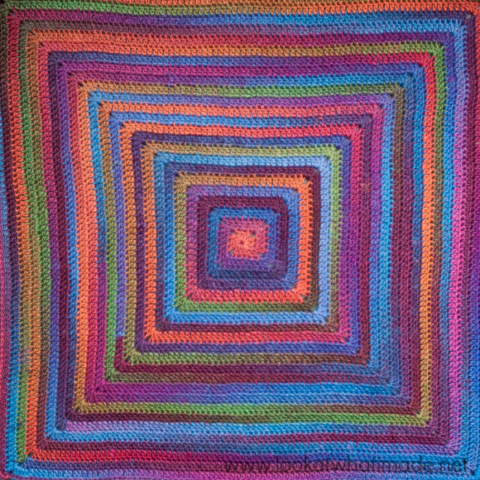 Crocheting In A Continuous Round : Continuous Crochet Baby Blanket (Preemie/Car Seat) - Look At What I ...
