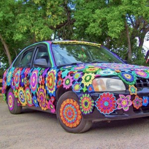 A Yarn-bombed Car That Will Make You Smile