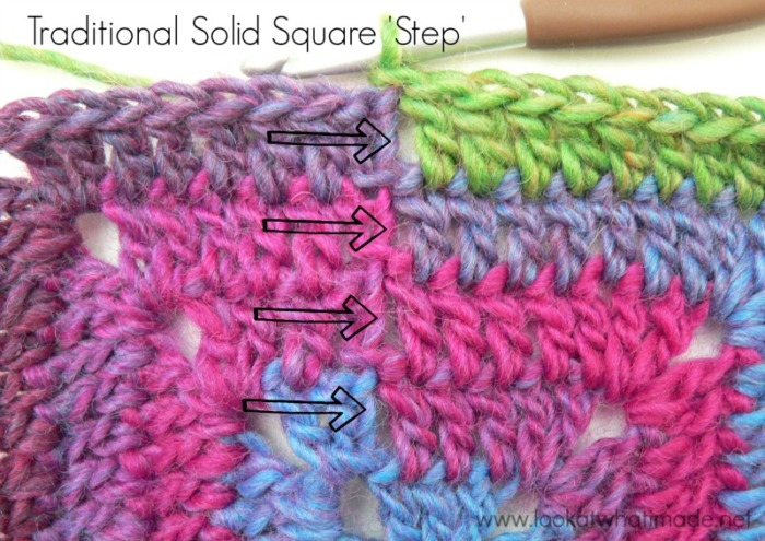 How To Crochet Continuous Solid Square Look At What I Made