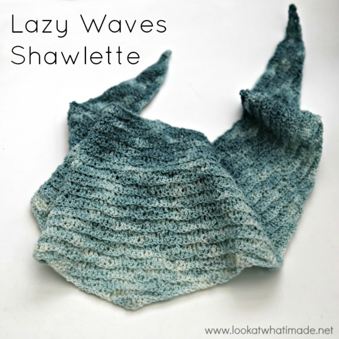 Lazy Waves Shawlette Free Crochet Pattern Look At What I Made