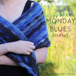 Monday Blues Shawl – A Free Crochet Shawl Pattern