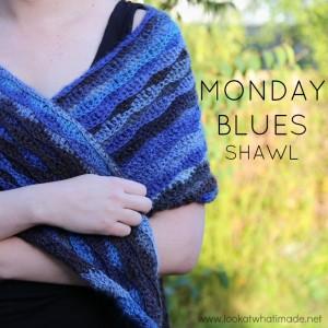 Monday Blues Shawl – A Free Crochet Shawl Pattern