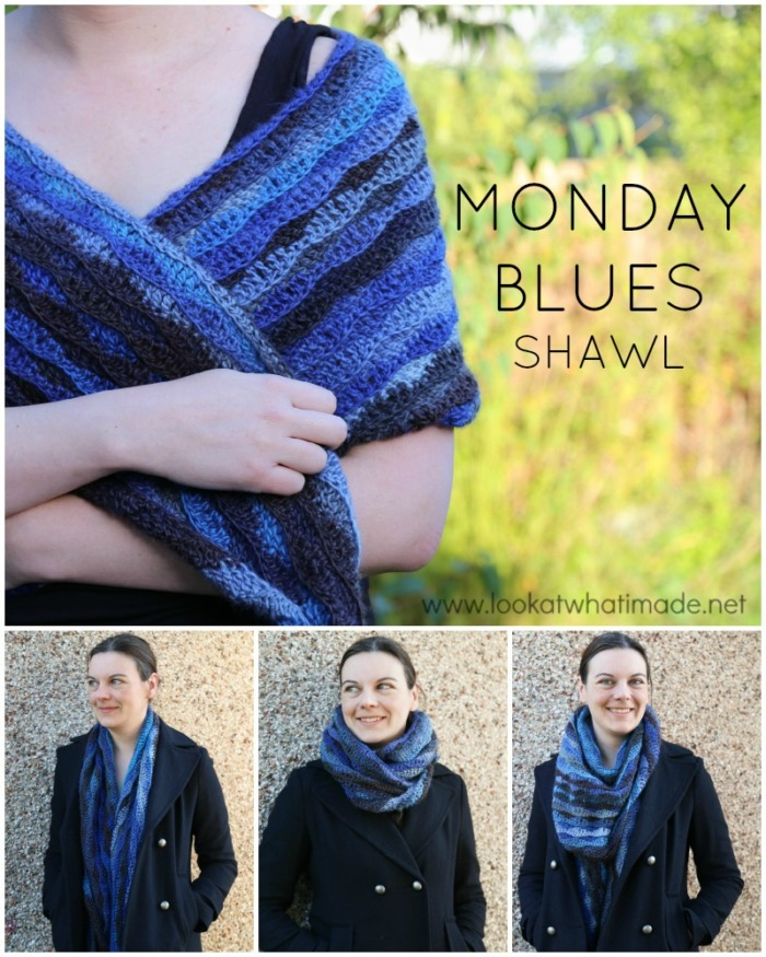 Monday Blues Free Crochet Shawl Pattern by Lookatwhatimade