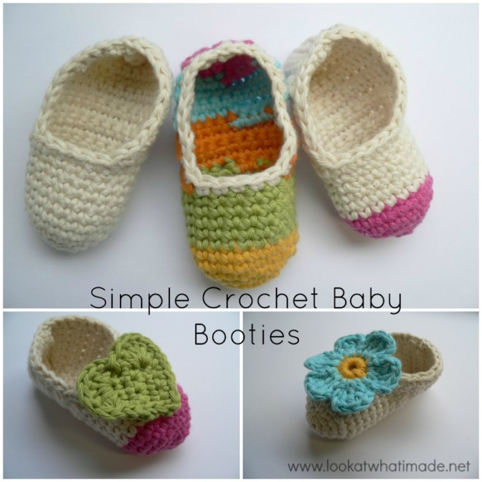 3d4473921 Simple Crochet Baby Booties ⋆ Look At What I Made