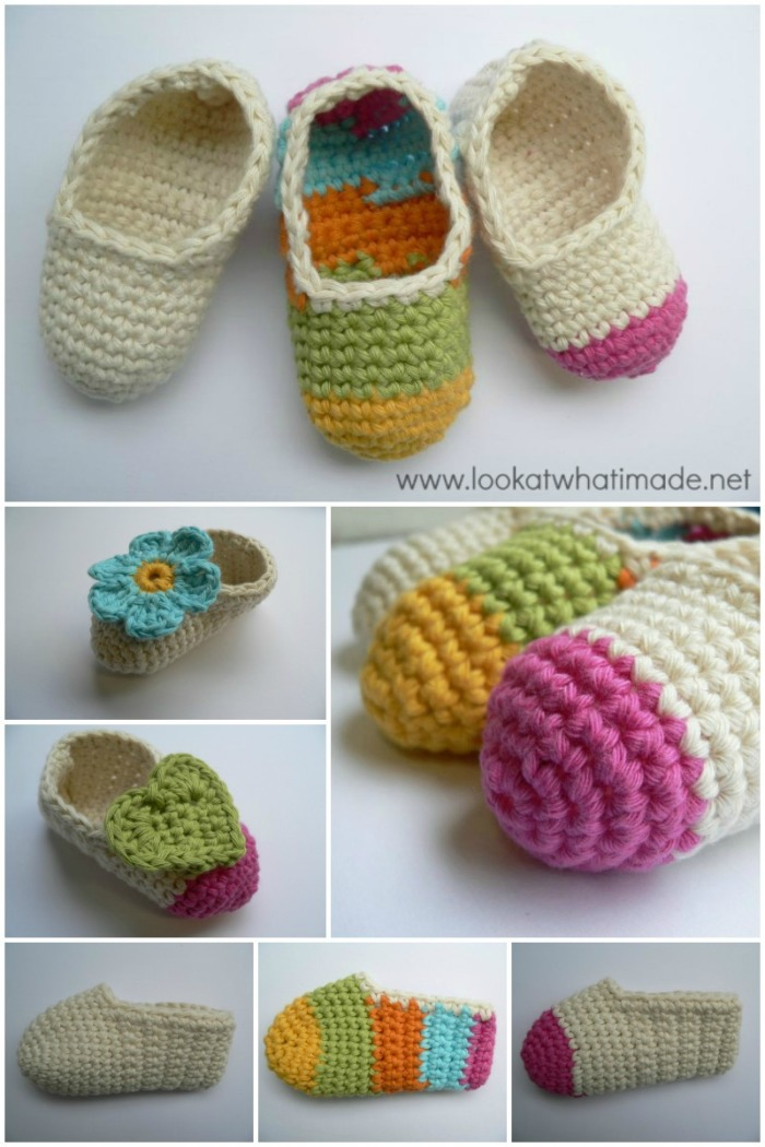 Simple Crochet Baby Booties ⋆ Look At What I Made