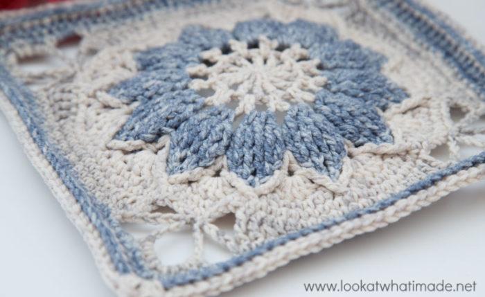 Aquarel Yarn Large Crochet Square