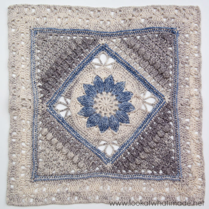 Crochet Stitches Squares : Charlotte - Large Crochet Square - Look At What I Made