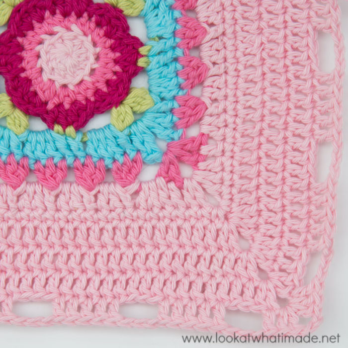 How to Crochet Rose Border