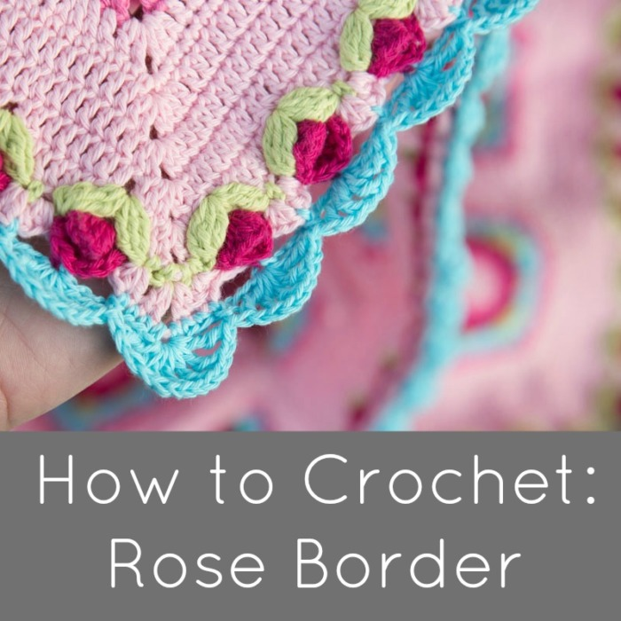 How To Crochet Rose Border Look At What I Made