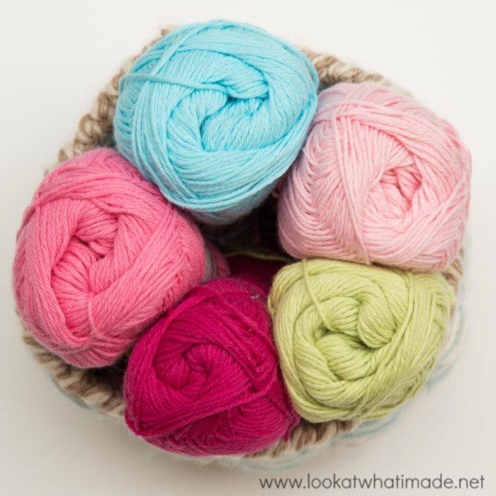 Lydia Crochet Baby Blanket Cotton 8 Yarn