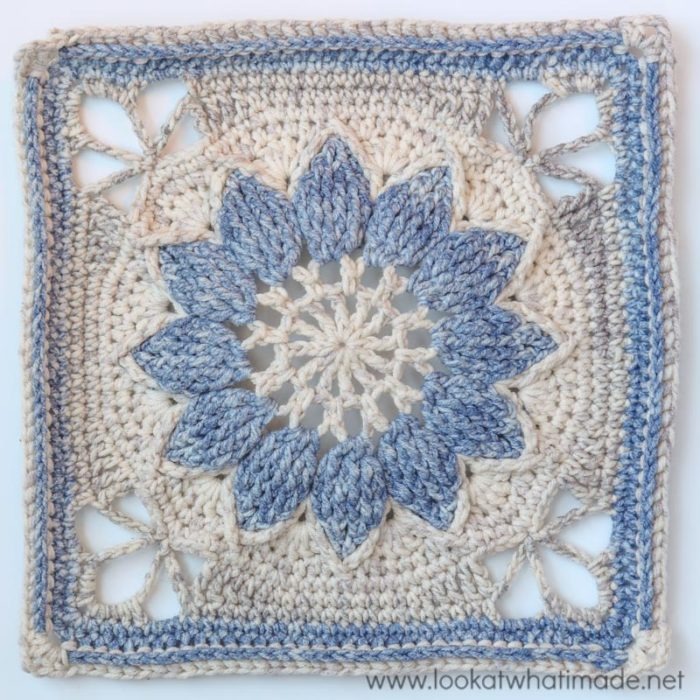 Charlotte {Large Crochet Square Part 1} ⋆ Look At What I Made