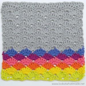 Simple Crochet Shells Dishcloth