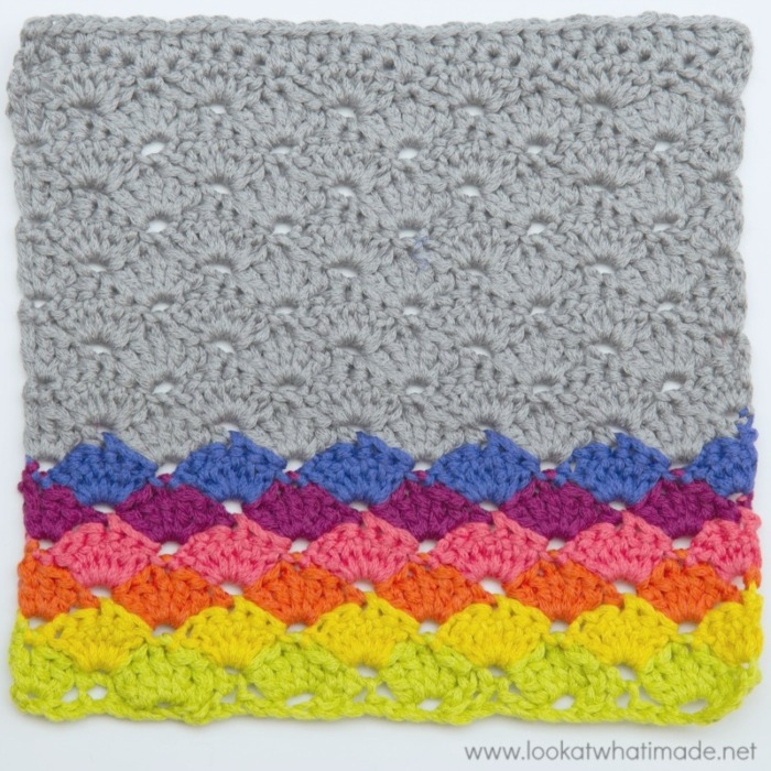 Crochet Shell Stitch Dishcloth Pattern