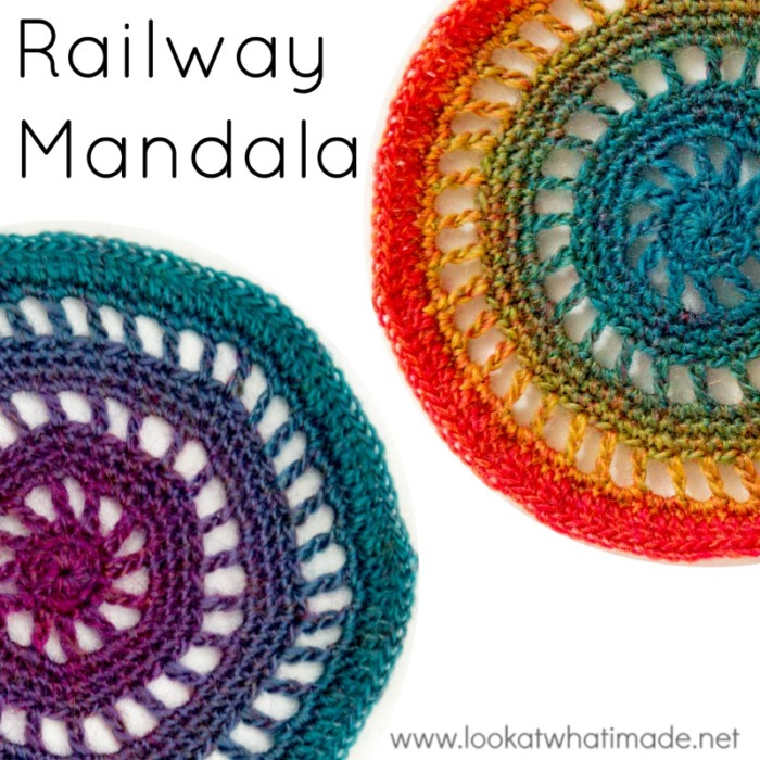 Railway Mandala Pattern Crochetville Blog Tour 2016