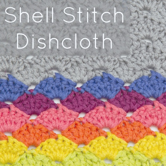 Shell Stitch Dishcloth Free Crochet Pattern
