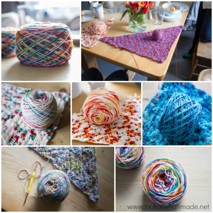 Weekend Retreat Devon Sun Yarns Yarn Cakes and Banksia Shawl