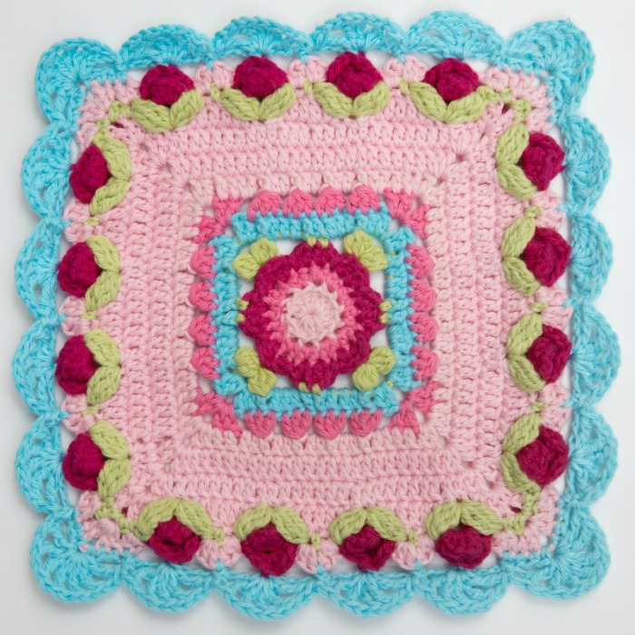 Flowers for Lydia Crochet Square