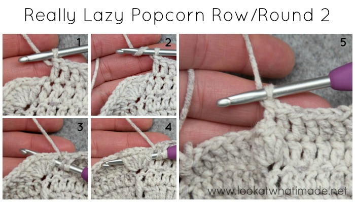 How to Crochet Really Lazy Popcorn Stitch