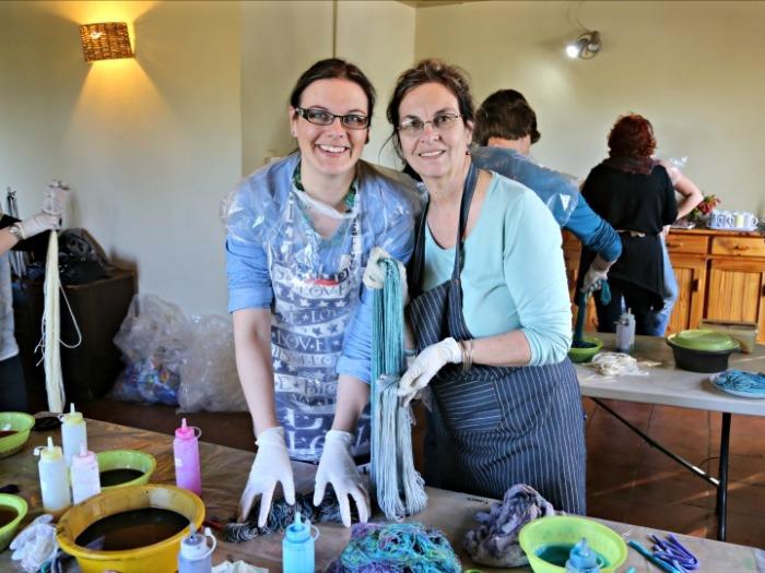 Dyeing Yarn at Nurturing Fibres