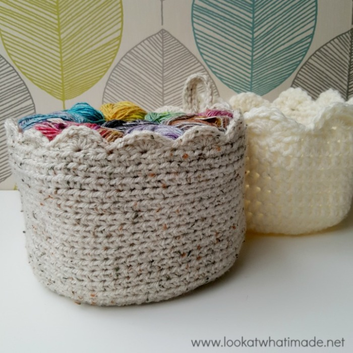 A Touch of Scallop Crochet Basket
