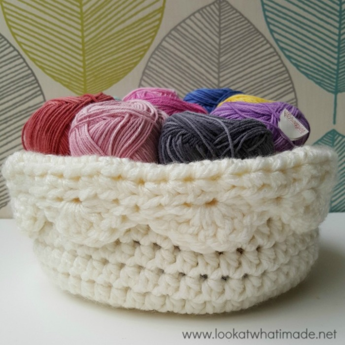 A Touch Of Scallop Crochet Basket Pattern Look At What I Made