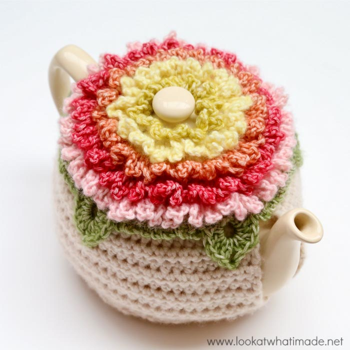 Little Box of Crochet Tea Cozy Floral Teacozy Lookatwhatimade