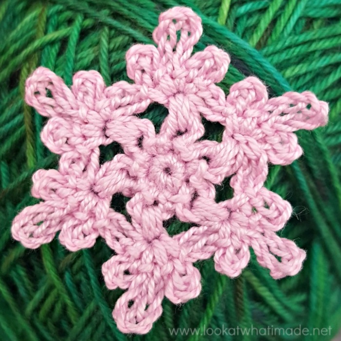 Floral Crochet Snowflake Look At What I Made