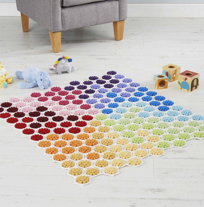 Crochet Gradient Floor Blanket Kirsten Ballering