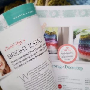 Inside Crochet:  Storage Doorstop and Rainbow Draught Excluder