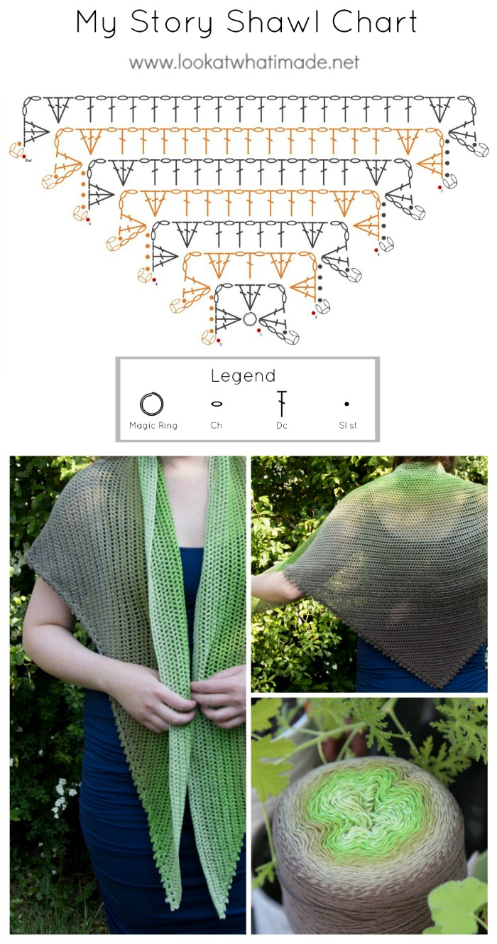 My Story Shawl Crochet Shawl Pattern