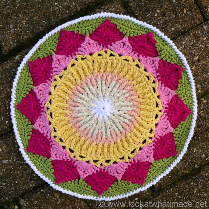 King Protea Mandala Crochet Mandala