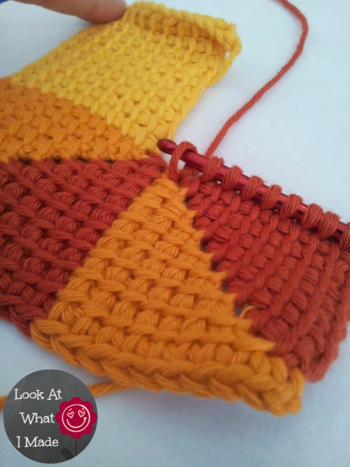 Tunisian Crochet Ten Stitch Blanket Free Pattern Look At What I Heart Shape Diagram